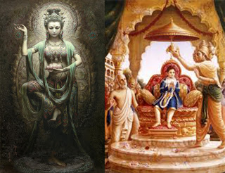 Kuan Yin and Bhakta Prahlada, Same stories but different Screenplay